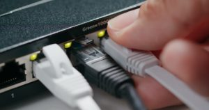 Plug in and out on internet switch