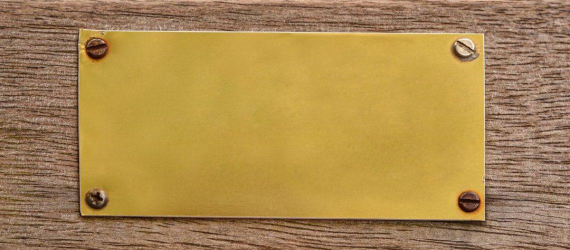 blank metal plate