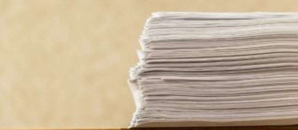 Large paper stack