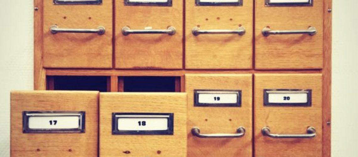 Retro boxes for files